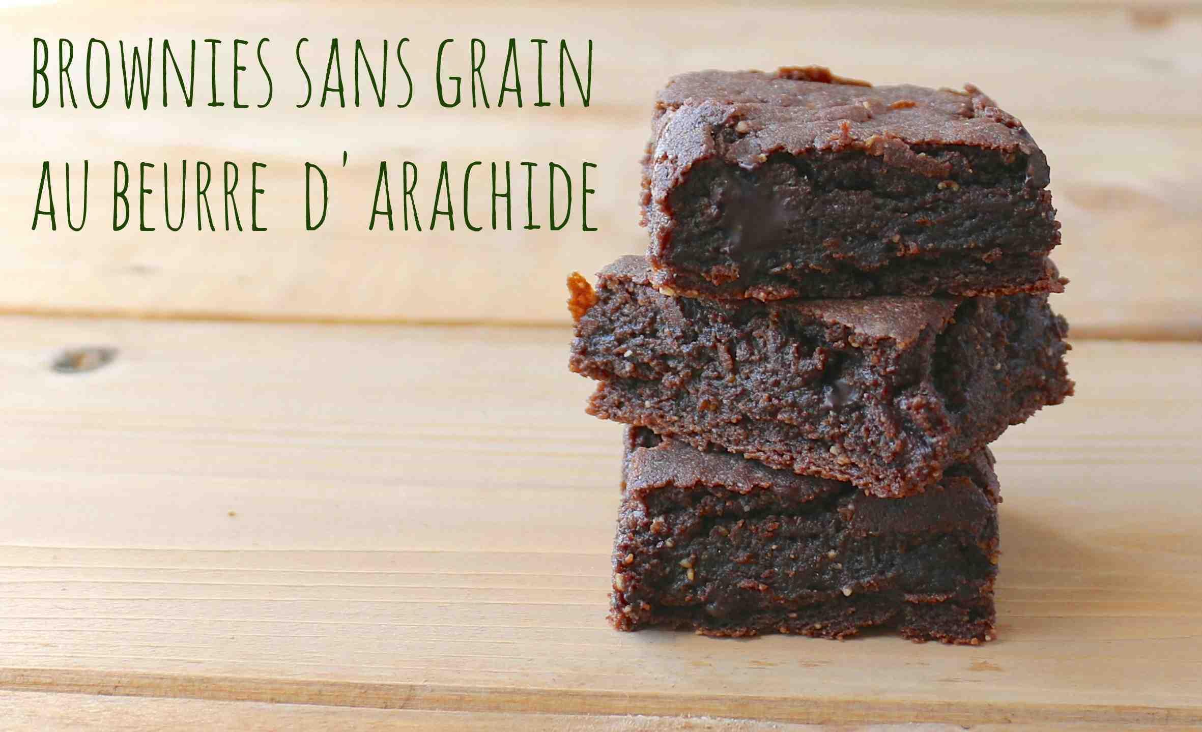 brownies sans grain au beurre d 39 arachide a dash of wholesome. Black Bedroom Furniture Sets. Home Design Ideas