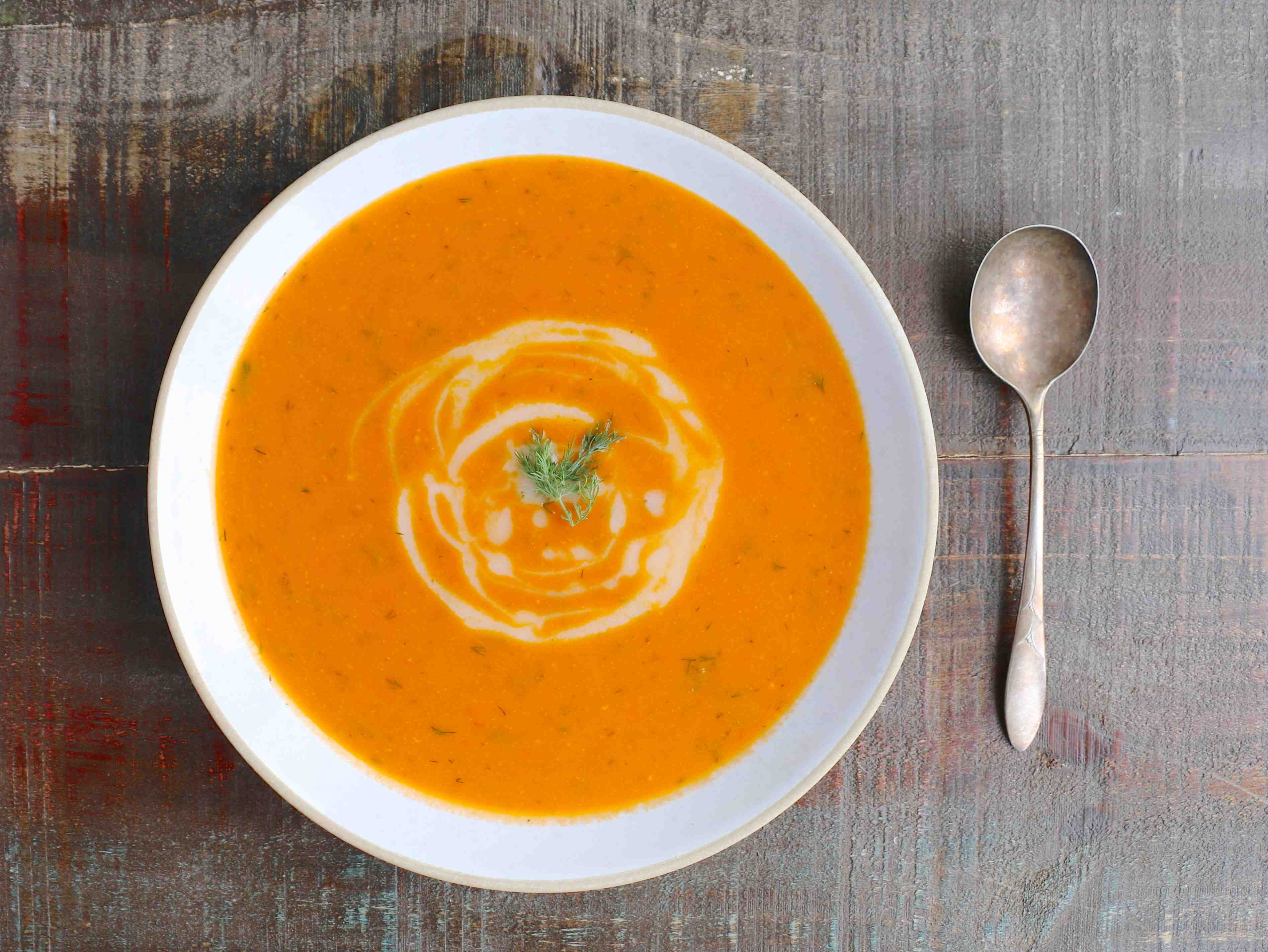 Roasted Tomato and Dill Soup