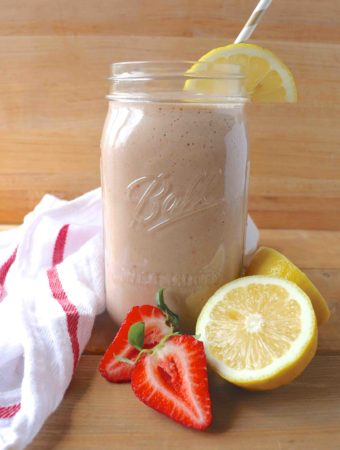 strawberry & lemon smoothie