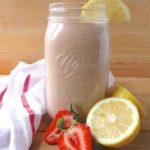 smoothie aux fraises et au citron