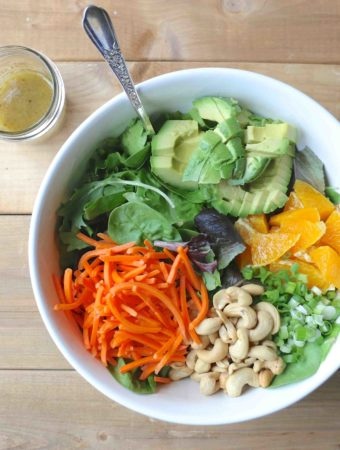 salade à l'orange et au gingembre